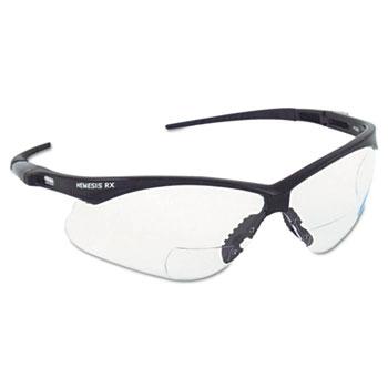 V60 Nemesis Rx Reader Safety Glasses, Black Frame, Clear Lens