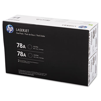 78A (CE278D) Toner Cartridges - Black (2 pack)