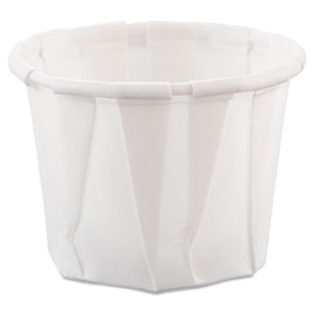 SOLO® Cup Company Paper Portion Cups, .75oz, White, 250/Bag, 20 Bags/Carton