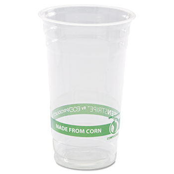 Eco-Products® GreenStripe Renewable & Compostable Cold Cups - 24oz., 50/PK, 20 PK/CT