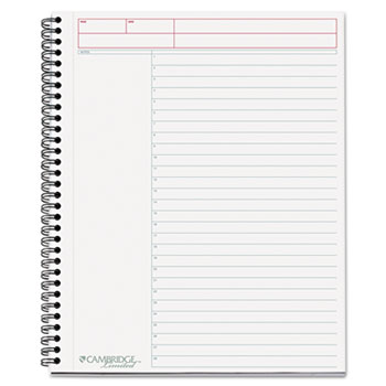 Side-Bound Guided Business Notebook, Action Planner, 8 7/8 x 11, 80 Sheets