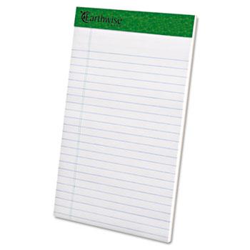 Earthwise Recycled Writing Pad, Narrow, 5 x 8, White, Dozen