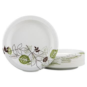 "Dixie® Pathways Soak-Proof Shield Medium Weight Paper Plates, Dispenser Box, 8.5"", 300/PK"