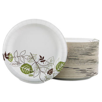 "Pathways Soak Prooof Shield Heavy Weight Paper Plates, 8 1/2"", 125/PK"