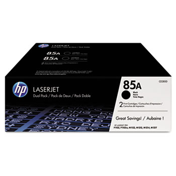 85A (CE285D) Toner Cartridges - Black (2 pack)