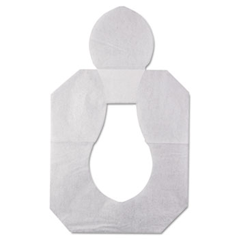 HOSPECO® Health Gards Toilet Seat Covers, Half-Fold, White, 250/Pack, 10 Boxes/Carton