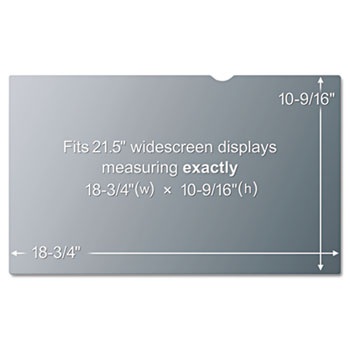 """3M™ Blackout Frameless Privacy Filter for 21.5"""" Widescreen LCD Monitor, 16:9"""