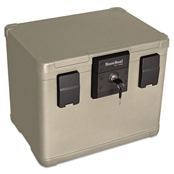 0.6 cu ft/Letter and A4 Size Fire and Waterproof Chest 0.6 cu ft