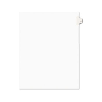 Individual Legal Dividers Style, Letter Size, Avery-Style, Side Tab Dividers, #2, 25/PK