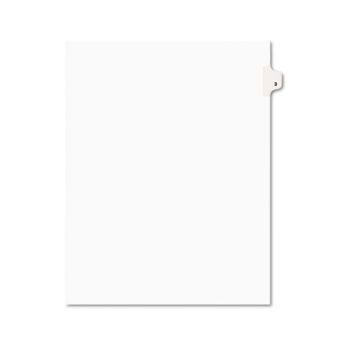 Avery® Individual Legal Dividers Style, Letter Size, Avery-Style, Side Tab Dividers, #3, 25/PK
