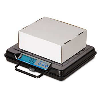 """Brecknell Portable Electronic Utility Bench Scale, 100 lb. Capacity, 12"""" x 10"""" Platform"""