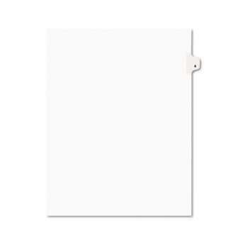 Individual Legal Dividers Style, Letter Size, Avery-Style, Side Tab Dividers, #4, 25/PK