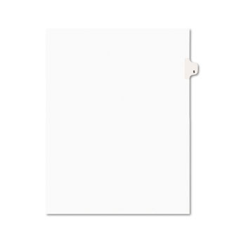 Avery® Individual Legal Dividers Style, Letter Size, Avery-Style, Side Tab Dividers, #5, 25/PK