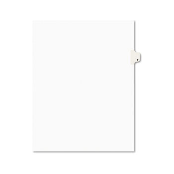 Individual Legal Dividers Style, Letter Size, Avery-Style, Side Tab Dividers, #7, 25/PK