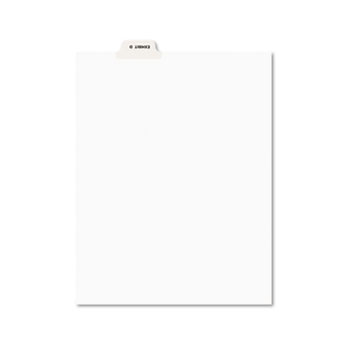 Individual Legal Dividers Style, Letter Size, Avery-Style, Bottom Tab Dividers, EXHIBIT D, 25/PK