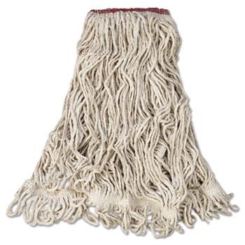 Rubbermaid® Commercial Super Stitch Blend Mop Head, Large, Cotton/Synthetic, White, 6/Carton