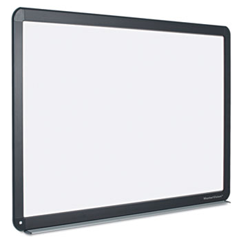 MasterVision® Interactive Magnetic Dry Erase Board, 70 x 52 x 1 1/4, White/Black Frame
