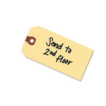 "Avery® Shipping Tags, Manila, Unstrung, 4 3/4"" x 2 3/8"", 1000/BX"
