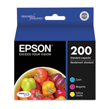 Epson® T200520 (200) DURABrite Ultra Ink, Cyan/Magenta/Yellow