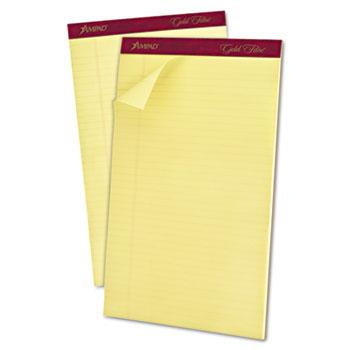 """Gold Fibre Pad, 8 1/2"""" x 14"""", Canary, 50 Sheets, DZ"""