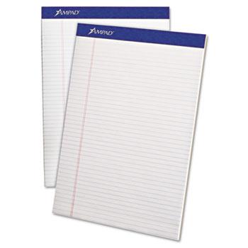 Perforated Writing Pad, 8 1/2 x 11 3/4, White, 50 Sheets, Dozen