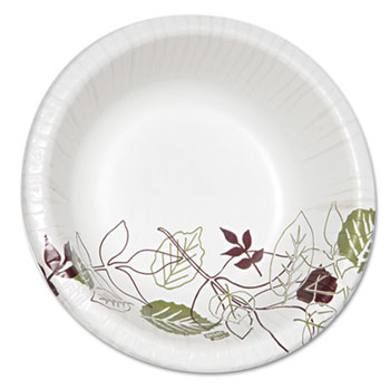 Pathways Heavyweight Paper Bowls, 20oz, White/Green/Burgundy, 125/Pack