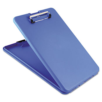"""SlimMate Storage Clipboard, 1/2"""" Capacity, Holds 8 1/2w x 12h, Blue"""