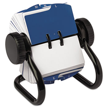 Rolodex™ Open Rotary Card File Holds 250 1 3/4 x 3 1/4 Cards, Black