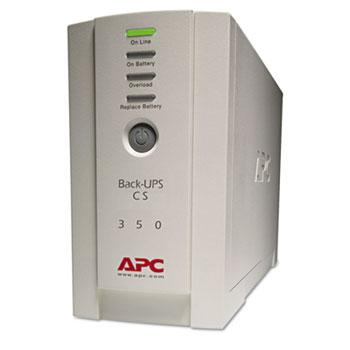 APC® Back-UPS CS Battery Backup System Six-Outlet 350 Volt-Amps