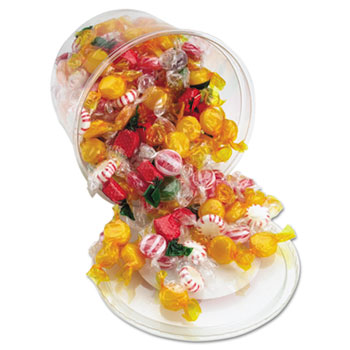 Office Snax® Fancy Assorted Hard Candy, Individually Wrapped, 2 lb Tub