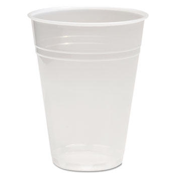 Translucent Plastic Cold Cups, 10oz, Polypropylene, 100/Pack