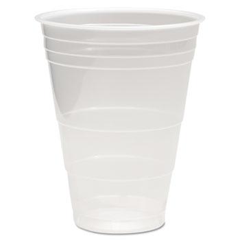 Translucent Plastic Cold Cups, 16oz, Polypropylene, 50/Pack