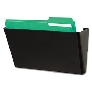 Wall File, Add-On Pocket, Plastic, Black