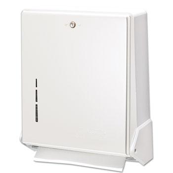 San Jamar® True Fold C-Fold/Multifold Paper Towel Dispenser, White, 11 5/8 x 5 x 14 1/2