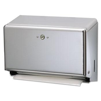 San Jamar® Mini C-Fold/Multifold Towel Dispenser, Chrome, 11 1/8 x 3 7/8 x 7 7/8