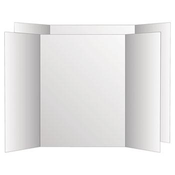 Eco Brites 2 Cool Colors Project  Board, 36 x 48, White/White, 6/Carton