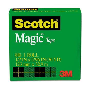 """Scotch™ Magic Tape Refill, 1/2"""" x 1296"""", 1"""" Core, Clear"""