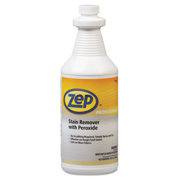 Zep Professional® Stain Remover with Peroxide, Quart Bottle, 6/Carton