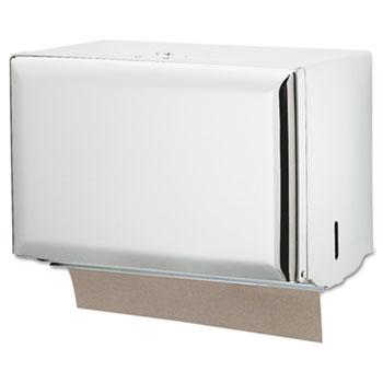 San Jamar® Singlefold Paper Towel Dispenser, White, 10 3/4 x 6 x 7 1/2