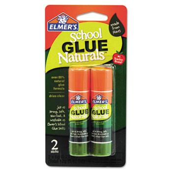 Elmer's® School Glue Naturals, Clear, 0.21 oz Stick, 2 per Pack