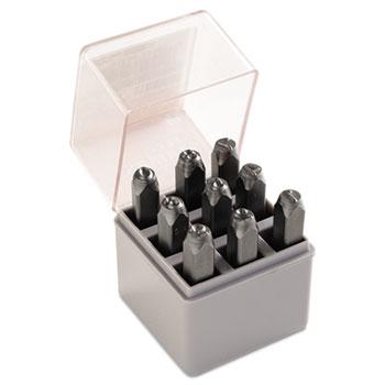"""Standard Steel Hand Stamp Set, 1/4"""", Number"""