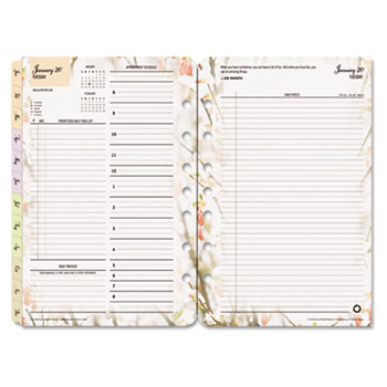 "FranklinCovey® Blooms Dated Daily Planner Refill, January-December, 5 1/2"" x 8 1/2"", 2021"