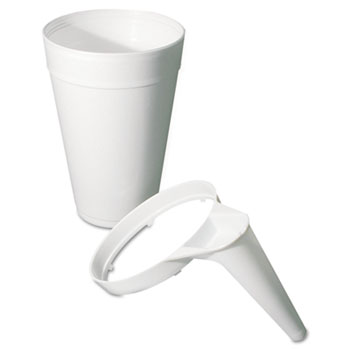 Dart® Plastic Pitcher Handle, For 32/44oz Foam Cups, White, 25/Bag, 20 Bags/Carton