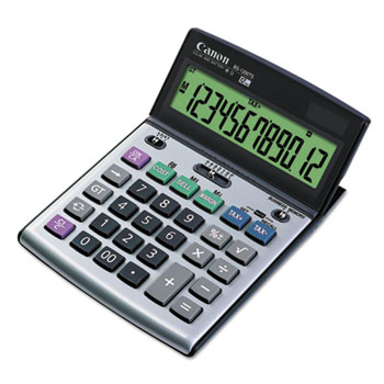 Canon® BS-1200TS Desktop Calculator, 12-Digit LCD Display