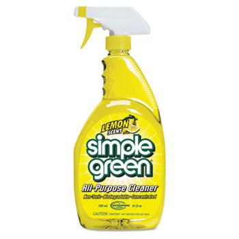 Simple Green® Original All-Purpose Cleaner, Lemon, 24oz, Bottle, 12/Carton