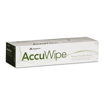 Georgia Pacific® Professional AccuWipe Recycled One-Ply Delicate Task Wipers, 15 x 16 7/10, White, 140/Box