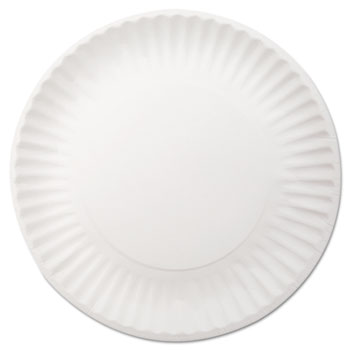 "Dixie® White Paper Plates, 9"" dia, 250/Pack, 4 Packs/Carton"