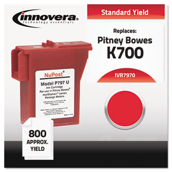Compatible with 797-0 Postage Meter, 792 Page-Yield, Red