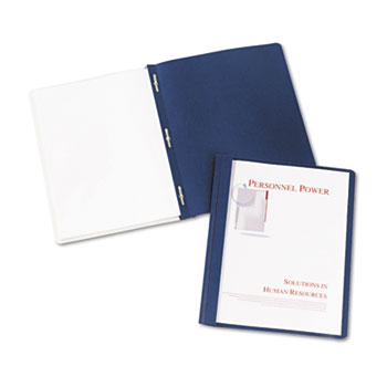 Avery® Durable Clear Front Report Covers, Dark Blue, 25/BX