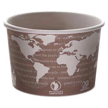 World Art Renewable & Compostable Food Container - 8oz., 50/PK, 20 PK/CT